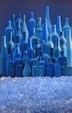 Orizzonte e ghiaccio delle bottiglie Fotografie Stock