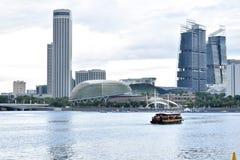 Orizzonte e grattacieli di Singapore fotografie stock libere da diritti
