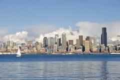 Orizzonte e lungomare di Seattle Immagine Stock Libera da Diritti