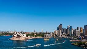 Orizzonte e porto della città di Sydney Fotografie Stock Libere da Diritti
