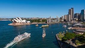 Orizzonte e porto della città di Sydney Immagini Stock Libere da Diritti