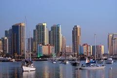 Orizzonte e porto di San Diego Fotografie Stock Libere da Diritti