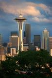 Orizzonte e tempesta di Seattle Fotografie Stock Libere da Diritti
