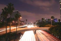 Orizzonte ed autostrada senza pedaggio di Los Angeles Fotografia Stock Libera da Diritti