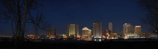 Orizzonte editoriale di New Orleans di panorama di versione fotografie stock
