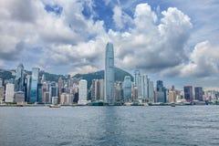 Orizzonte famoso di Hong Kong fotografia stock libera da diritti