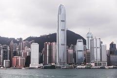 Orizzonte famoso di Hong Kong immagini stock