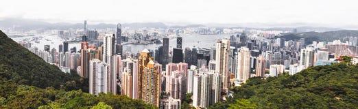 Orizzonte famoso di Hong Kong immagine stock libera da diritti