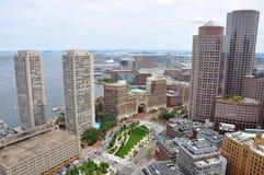 Orizzonte finanziario del distretto di Boston Fotografia Stock