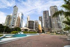 Orizzonte finanziario del distretto di Panamá Fotografia Stock Libera da Diritti