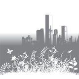 Orizzonte floreale della città Fotografie Stock Libere da Diritti