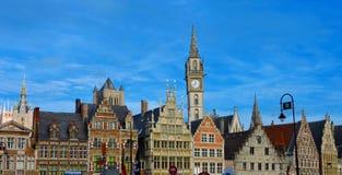 Orizzonte a Gand, Belgio Fotografie Stock