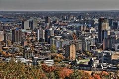 Orizzonte HDR di Montreal Fotografie Stock Libere da Diritti