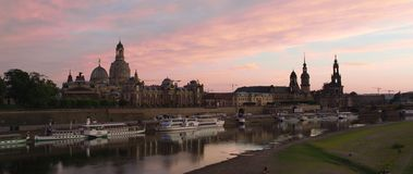 Orizzonte illuminato di Dresda archivi video