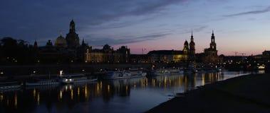 Orizzonte illuminato di Dresda video d archivio