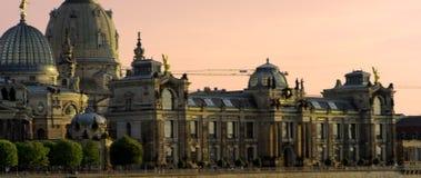 Orizzonte illuminato di Dresda stock footage