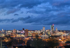 Orizzonte Inghilterra Regno Unito di Leeds immagine stock