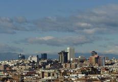 Orizzonte Madrid Fotografia Stock