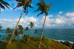 Orizzonte Mirissa Sri Lanka dell'oceano di paesaggio della natura Fotografia Stock