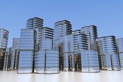 Orizzonte moderno della città Immagine Stock Libera da Diritti