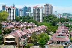 Orizzonte moderno della città di Kuala Lumpur Fotografia Stock Libera da Diritti