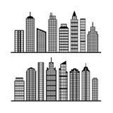 Orizzonte moderno della città su bianco Fotografie Stock Libere da Diritti