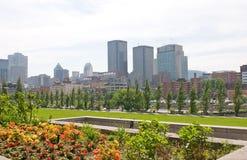 Orizzonte Montreal Quebec Canada   Fotografia Stock
