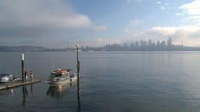 Orizzonte nebbioso Seattle, Stati Uniti archivi video