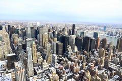 Orizzonte nell'inverno - New York - U.S.A. di Manhattan fotografia stock libera da diritti