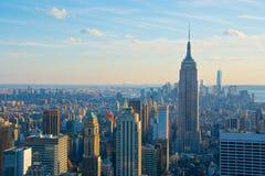 Orizzonte New York con Empire State Building Fotografia Stock