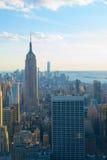 Orizzonte New York con Empire State Building Immagini Stock