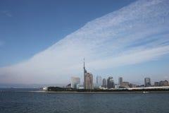 Orizzonte nuvoloso della città Immagini Stock Libere da Diritti