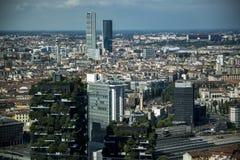 Orizzonte panoramico a Milano, Italia Immagine Stock