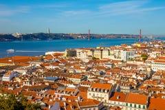 Orizzonte Portogallo di Lisbona Fotografie Stock