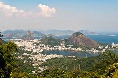 Orizzonte Rio de Janeiro, Brasile fotografia stock libera da diritti