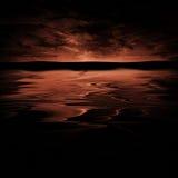 Orizzonte rosso Immagini Stock