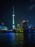 Orizzonte Schang-Hai, torretta di Pudong della perla Fotografia Stock Libera da Diritti