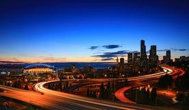 Orizzonte Seattle Fotografie Stock Libere da Diritti