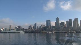 Orizzonte Seattle, Stati Uniti stock footage