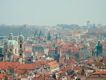 Orizzonte sopra Praga fotografia stock
