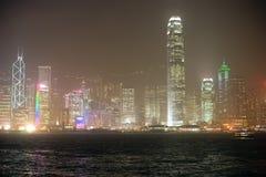 Orizzonte stupefacente di Hong Kong Fotografie Stock Libere da Diritti
