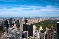 Orizzonte un giorno pieno di sole, vista di New York del Central Park Fotografia Stock