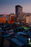 Orizzonte urbano della città di notte, Ho Chi Minh City, Vietnam Fotografia Stock