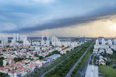 Orizzonte urbano della città, Ho Chi Minh, Vietnam Fotografia Stock Libera da Diritti