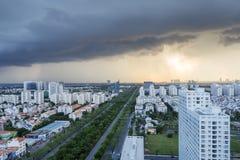Orizzonte urbano della città, Ho Chi Minh, Vietnam Fotografie Stock Libere da Diritti