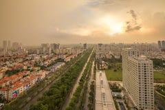 Orizzonte urbano della città, Ho Chi Minh, Vietnam Fotografie Stock