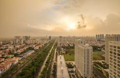 Orizzonte urbano della città, Ho Chi Minh, Vietnam Immagine Stock