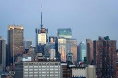 Orizzonte urbano di Manhattan di Midtown Immagine Stock Libera da Diritti