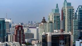 Orizzonte urbano di paesaggio urbano di Bangkok: La Tailandia fotografia stock