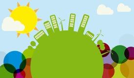 Orizzonte verde del mondo Immagini Stock Libere da Diritti